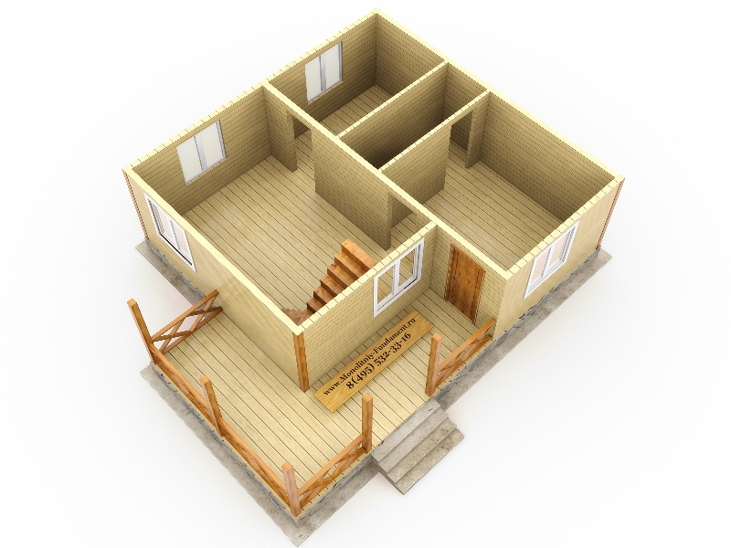 Строительство дома 8 на 8 своими руками 92